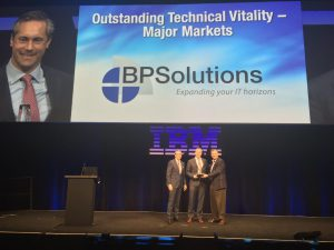 BPSolutions wint IBM Beacon Award 2015 in de categorie 'Outstanding Technical Vitality'