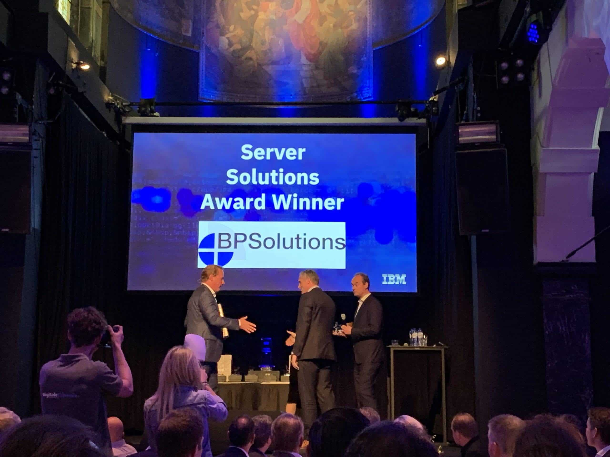 BPSolutions wint IBM Server Solution Award 2019