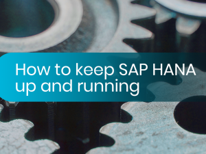 How do you keep SAP HANA up and running?