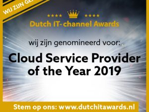 BPSOLUTIONS genomineerd voor Cloud Service Provider of the Year 2019