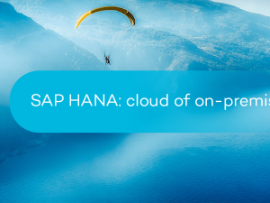 SAP HANA: cloud of on-premise?